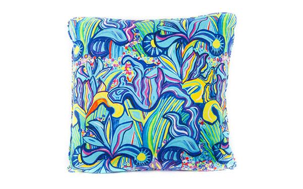 Iris Cotton Satin Cushion