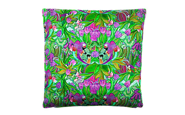Papagayo Cerise Cotton Satin Cushion