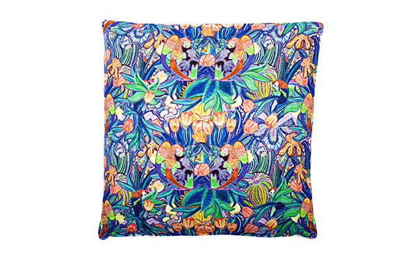 Papagayo Tangerine Linen Cushion