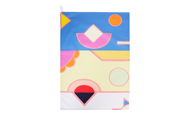 Banana Beach Cotton Drill Tea Towel Full Pattern