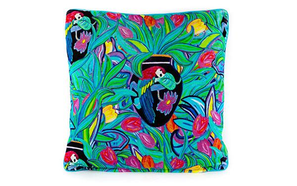 Enchanted Turquoise Velvet Cushion