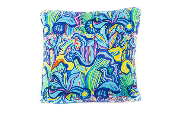 Iris Cotton Satin Cushion