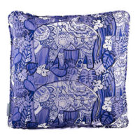 Knysna Elephant Blue & White Cushion