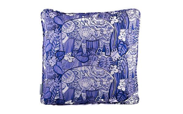 Knysna Elephant Blue & White Cushion