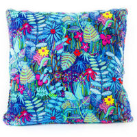 Midnight Garden Cotton Satin Cushion