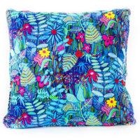 Midnight Garden Cotton Satin Cushion