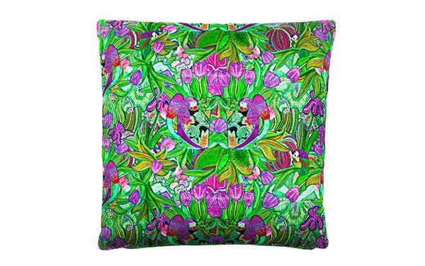 Papagayo Cerise Cotton Satin Cushion