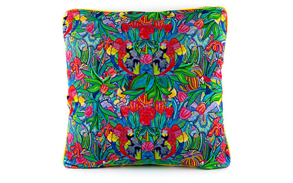 Papagayo Emerald Velvet Cushion