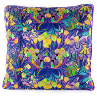 Papagayo Purple Cotton Satin Cushion