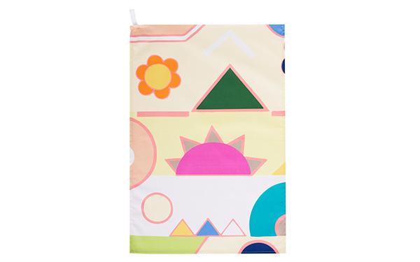 Lemon Meringue Cotton Drill Tea Towel Full Pattern